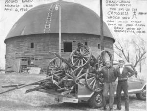 Exterior, Arcadia Round Barn, April 6, 1975