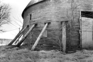 Exterior, Arcadia Round Barn, February 20, 1981