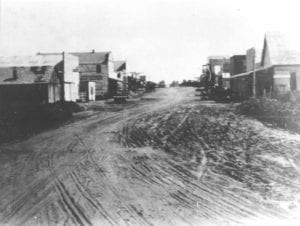 Street view of Arcadia, Oklahoma, c1905-1910