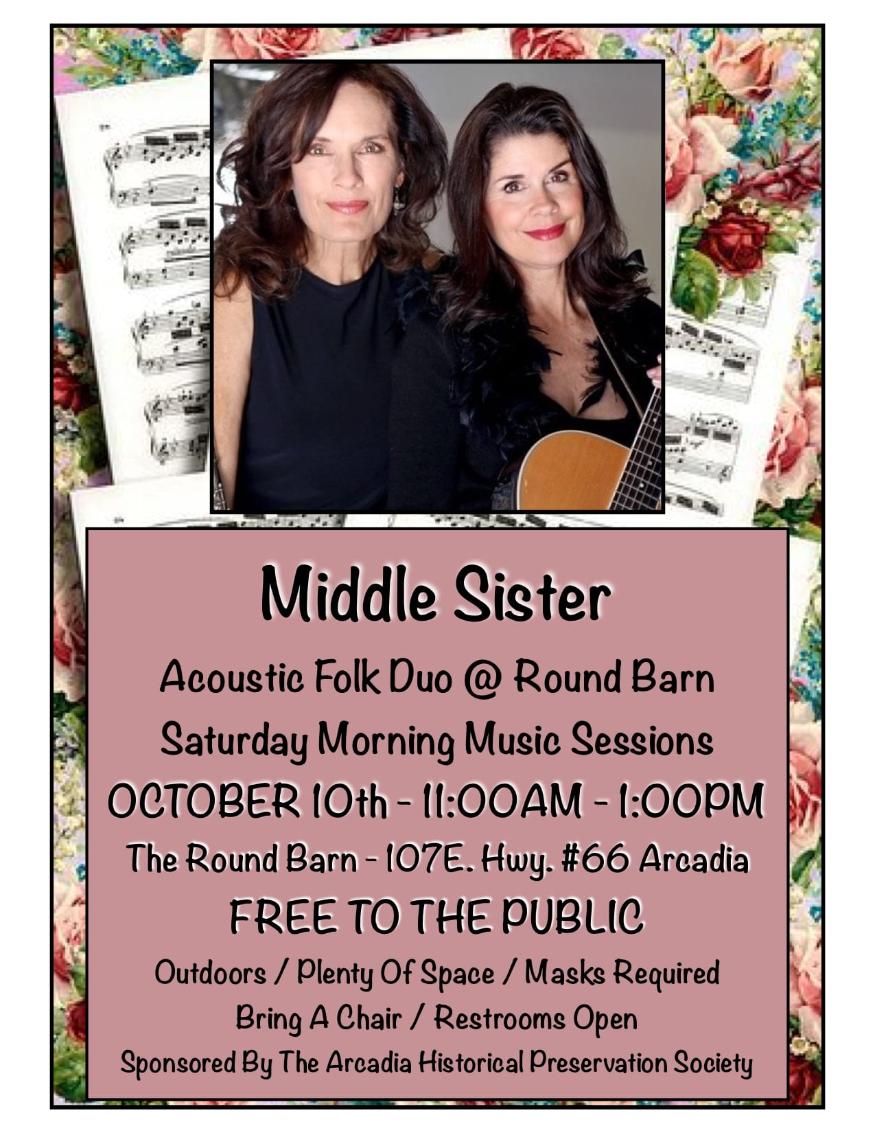 Middle Sister Acoustic Duo - Arcadia Round Barn