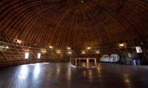 Although the Arcadia Round Barn museum is closed temporarily, the barn's loft is still available for weddings and other special events. [M. TIM BLAKE]